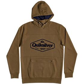 Quiksilver Big Logo Tech Felpa Uomo, verde oliva